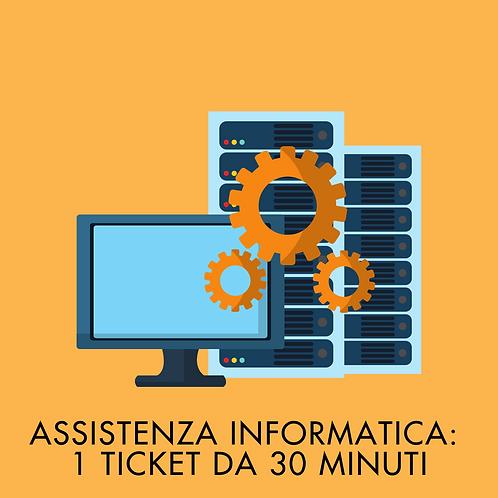 1 Ticket da 30 Minuti di Assistenza Informatica