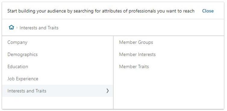 uso dei gruppi per il targeting di linkedin ads