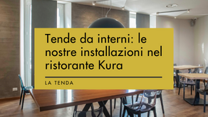 Tende da interni: le nostre installazioni nel ristorante Kura, in centro a Bergamo