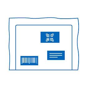 etichette logistica su busta