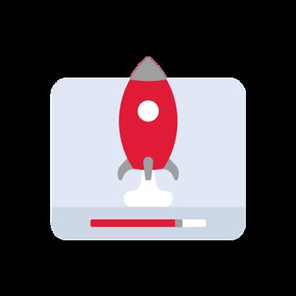 razzo: simbolo di coe la pubblicità online velocizza le vendite