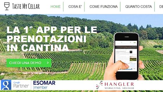 Agenzia grafica Bergamo progetto Taste my Cellar