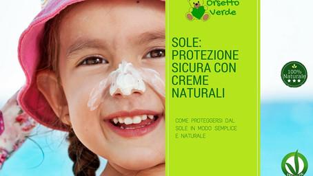 Sole: protezione sicura con creme naturali