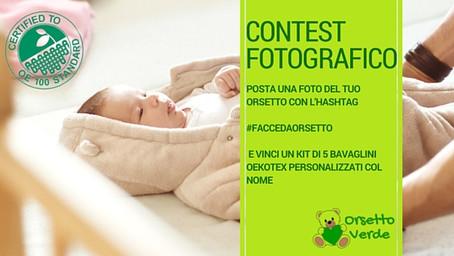 Contest fotografico #faccedaorsetto: scatta, posta e pubblica e vinci il kit 5 bavaglini Orsetto Ver