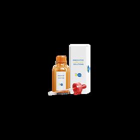 Flaconi con etichette farmaceutiche