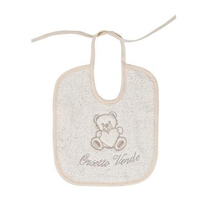 Bavaglino neonato in cotone Oeko-Tex® con laccio