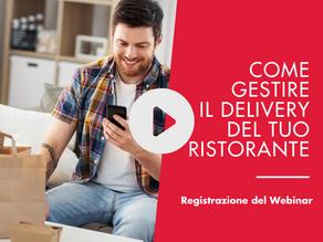 [Registrazione del Webinar] Come gestire il delivery del tuo ristorante