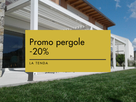 Promo pergole -20%