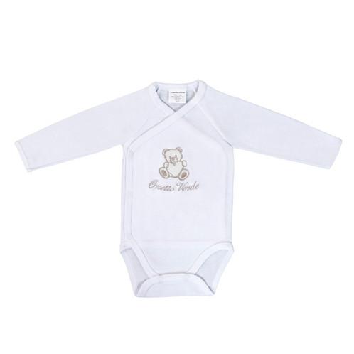 f8326a4eeb Bodino neonato in cotone biologico, 100% fatto in Italia con amore e  personalizzabile con il nome del neonato. Chiusura a kimono con comodi  bottoncini ...