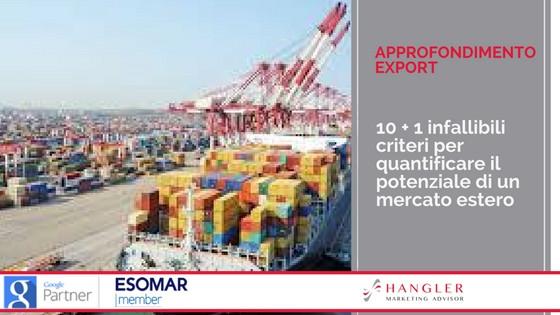 criteri per valutare un mercato estero