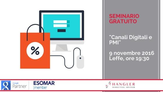 Seminario canali digitali per le PMI