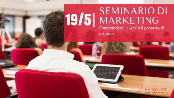 seminario di marketing sulla comprensione della clientela