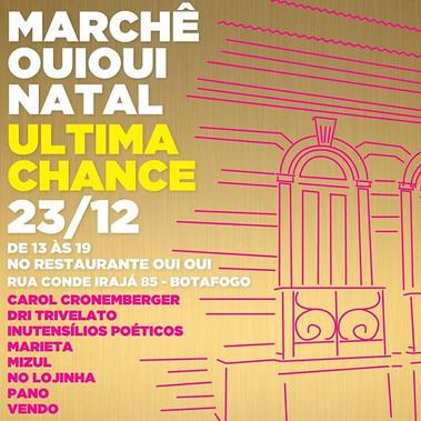 Último bazar desse ano._Prometi pra mim._Em Botafogo desta vez._No _restauranteouioui _Rodeada de artistas e presentes incríveis.jpg