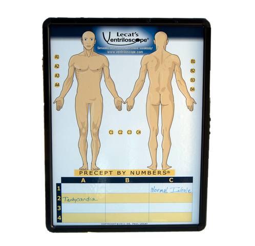 Lecat's Precepts by Numbers Board - Simulation Stethoscope Accessory