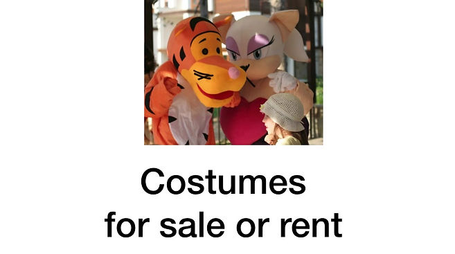 artisitic costumes sale or rent