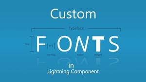 Use Custom font in Lightning Component