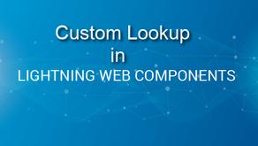 Custom Lookup in Lightning Web Component