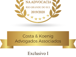 """Costa & Koenig Advogados é reconhecido com o """"Prêmio Excelência na Advocacia 2019/2020 – Rio Gra"""