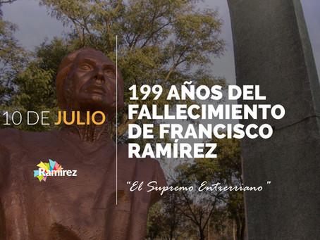 "10 de julio - Muerte de Francisco ""Pancho"" Ramírez"