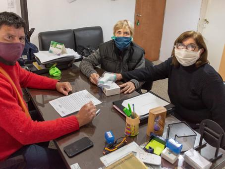 Reunión con autoridades del Centro de Jubilados y Pensionados Provinciales