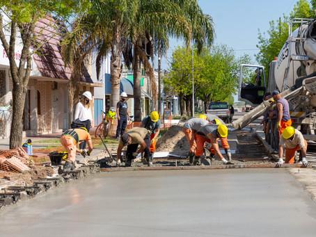 Repavimentación en calle Libertad