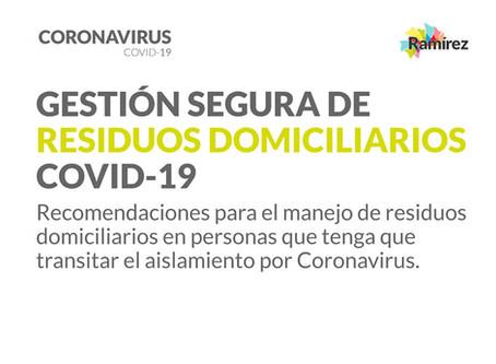 Gestión segura de residuos domiciliarios - COVID19