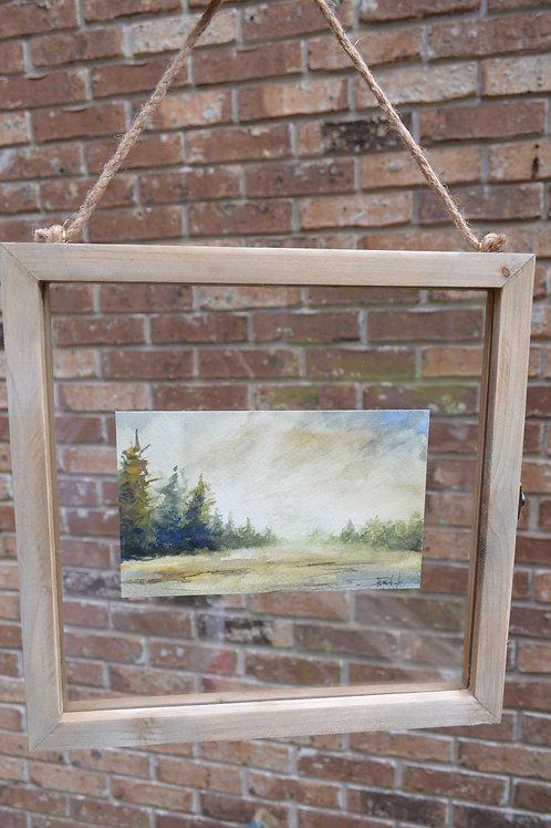 Watercolor:  Pine Rain