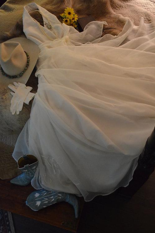 Hand Made Dotted Swiss Silk Wedding Dress