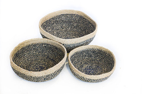 Small Charcoal Round Mini Bowl