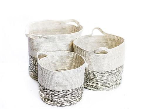 Small 2 Tone Laundry Basket