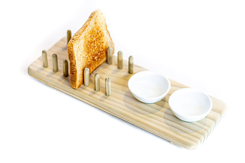 Toast Rack with 2 Ceramics
