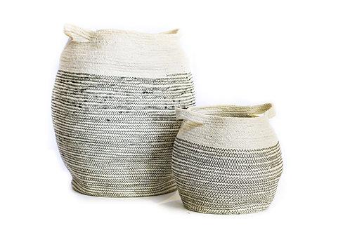 Small 2 Tone Cylinder Laundry Basket
