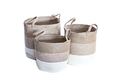 Medium 3 Tone Neutral Basket