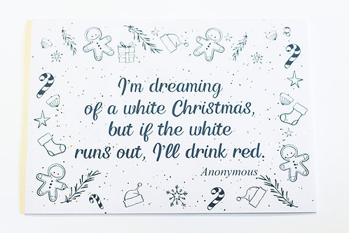 Navy Blue Christmas Disposable Placemats