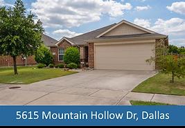 5615 Mountain Hollow Dr Dallas Top Dalla