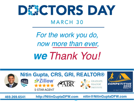Happy Doctors Day! Thank you for everything that you have done 🙏