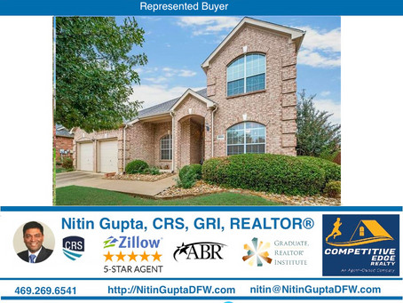 Just Sold! Another home to a family relocating to Dallas from California!