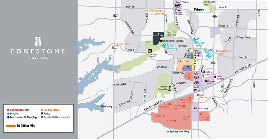Frisco Edgestone At Legacy Map New Homes