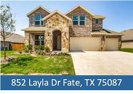 852 Layla Dr Fate, TX 75087 - Top Rockwa