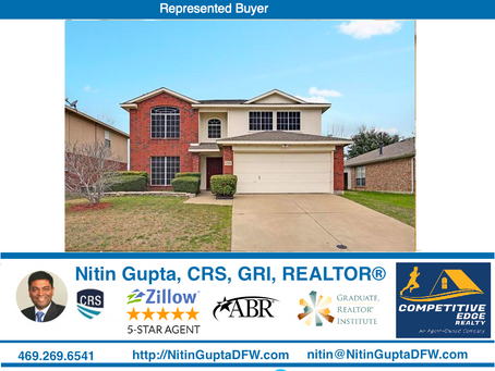 Just Sold! Another home in McKinney, TX to first time buyers relocating from New York