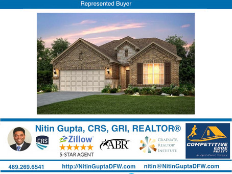 Just Sold! Another home to a family in DFW!