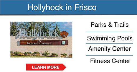 frisco master planned community Hollyhoc