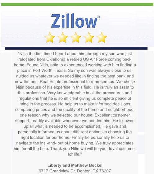 zillow review 5 star top denton realtor