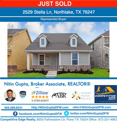 Just Sold! Another new construction Ashton Woods Homes built home to a family Relocating to Dallas!