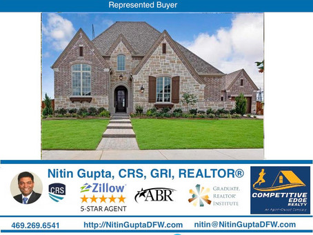 Just Sold! Another new construction Huntington Homes built home to a family Relocating to Frisco!
