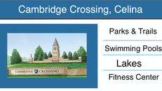 Newsflash: Cambridge Crossing in Celina - New Homes by Highland Homes, Perry Homes, Coventry Homes &