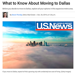 what to know when moving to Dallas - Dal