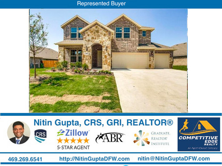Just Sold! Another home to a first time home buyer family in Rockwall, TX! Dallas Buyer's Agent