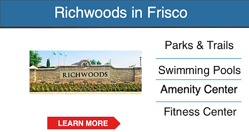 frisco master planned community Richwood
