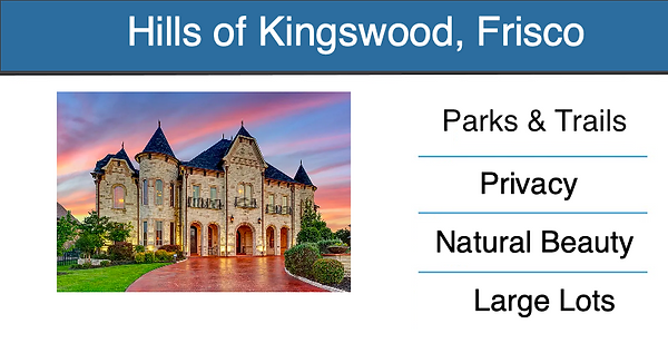 frisco master planned community THE HILL